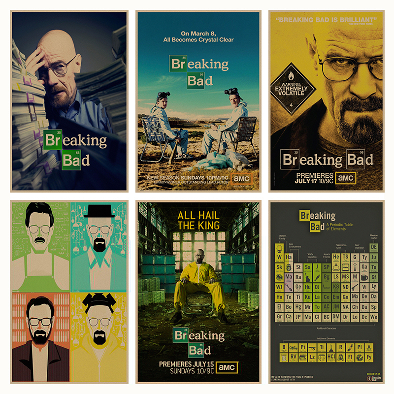 Breaking-Bad-movie-retro-Poster-Retro-Kraft-Paper-Bar-Cafe-Home-Decor-Painting-Wall-Sticker